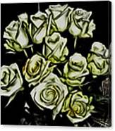 White Roses - Moving On Canvas Print