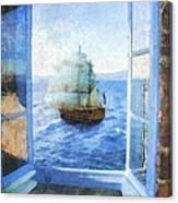 White Sails Canvas Print