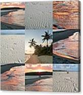 White Sand And Fire Water By Julia Fine Art  Canvas Print