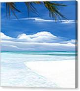 White Sand And Turquoise Sea Canvas Print