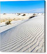 White Sands - Morning View White Sands National Monument In New Mexico. Canvas Print