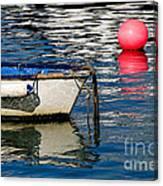 White Skiff - Lyme Regis Harbour Canvas Print