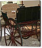 White Spring Carriage Canvas Print
