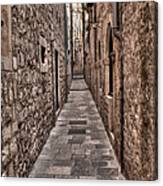 White Streets Of Dubrovnik No3 Canvas Print