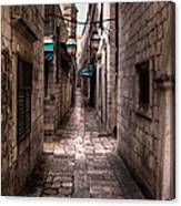 White Streets Of Dubrovnik No5 Canvas Print