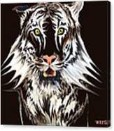 White Tiger 1 Canvas Print