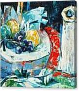 White Vase And Bowl Canvas Print