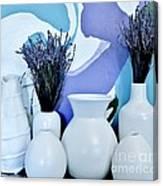 White Vases Canvas Print