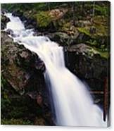 White Water Falling  Canvas Print