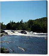 White Water On The West Branch Canvas Print