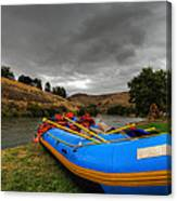 White Water Rafting Boat Canvas Print