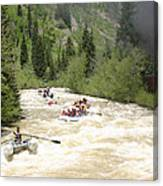 Animas River White Water Rafting The  Canvas Print