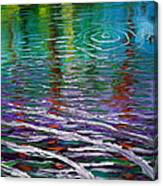 White Waves And Ripple Canvas Print