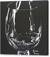 White Wine In Black And White Canvas Print