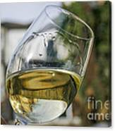 White Wine Swirling In A Glass Canvas Print