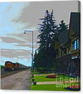 Whitefish Depot Canvas Print