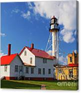 Whitefish Point Lighthouse Mi Canvas Print