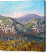 Whitehorse And Cathedral Ledges From The Red Jacket Inn Canvas Print