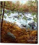 Whitewater Kayaking Canvas Print