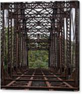 Whitford Railway Truss Bridge Canvas Print