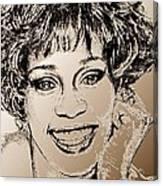 Whitney Houston In 1992 Canvas Print