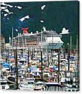 Whittier Alaska Boat Harbor Canvas Print