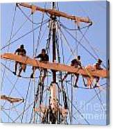 Who Was That Mast Man Canvas Print