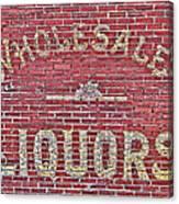 Wholesale Liquors Canvas Print