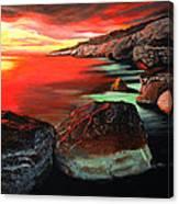 Whispering  Rocks Canvas Print