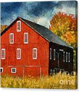 Why Do They Paint Barns Red? Canvas Print