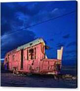 Why Pink Airstream Travel Trailer Canvas Print