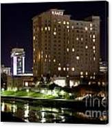 Wichita Hyatt Along The Arkansas River Canvas Print