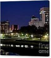 Wichita Skyline At Dusk Canvas Print