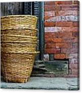 Wicker Baskets Canvas Print
