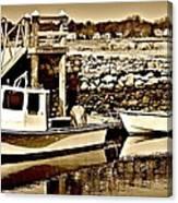 Wickford Marina Canvas Print