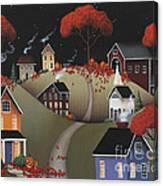 Wickford Village Halloween Ll Canvas Print