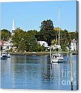 Wickford Village Waterfront Canvas Print
