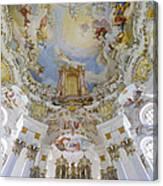 Wieskirche Organ And Ceiling Canvas Print