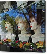 Wig Shop Window Canvas Print