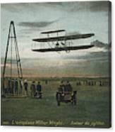 Wilbur Wright Rounds A Pylon Canvas Print