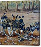 Wild Dogs After The Chase Canvas Print