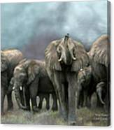 Wild Family Canvas Print