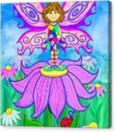 Wild Flower Fairy  Canvas Print