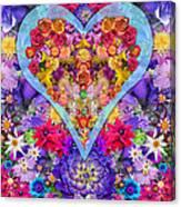 Wild Flower Heart Canvas Print