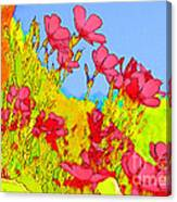 Wild Flowers In Bloom Canvas Print