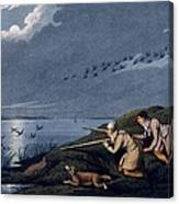 Wild Fowl Shooting, 1820 Canvas Print