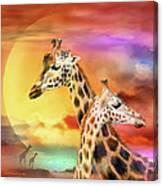 Wild Generations - Giraffes  Canvas Print