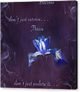 Wild Iris Inspirational Print Canvas Print