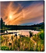 Wild Maine Woods In Baxter State Park Canvas Print