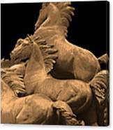 Wild Mustang Statue I I I Canvas Print